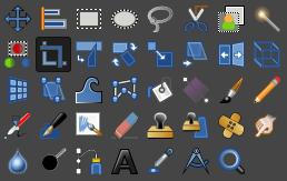 GIMP:ツールボックス