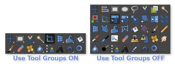 Use Tool Groupsの設定