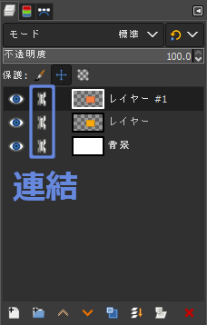 GIMP:レイヤーの連結