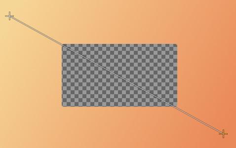 透過部分を保護が有効の場合レイヤーの透過部分に対して編集ができい