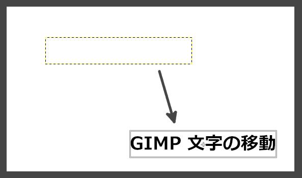 GIMP:ドラッグして文字を移動する