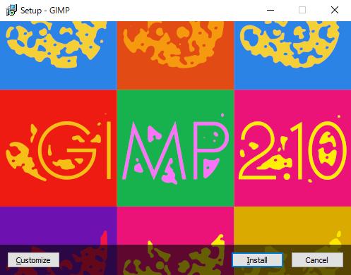 GIMP:インストール開始