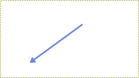 青色の矢印