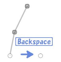 Backspaceで選択中のアンカーを削除