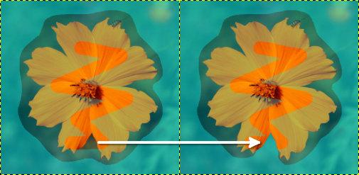 前景を描画中に誤って背景部分を塗ってしまったときの修正