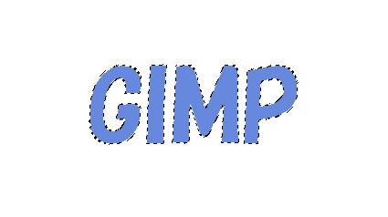 GIMP:色域選択を使い文字を範囲選択する