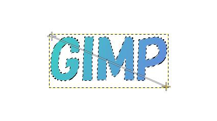 GIMP:文字にグラデーションをかける