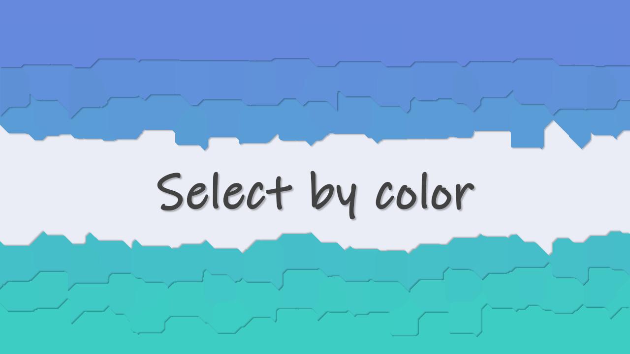 色域選択ツールの使い方 – GIMP