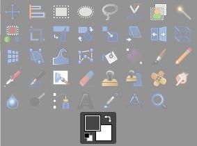 GIMP:描画色の設定