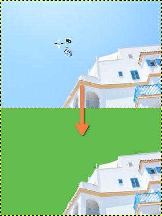 GIMP:背景の塗りつぶし