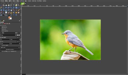 GIMP:オレンジ色の小鳥画像の読込み