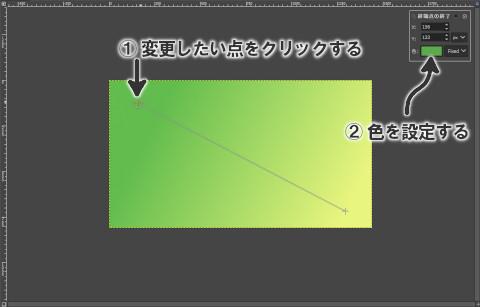 グラデーションの色を設定する