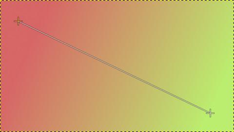 色を変更すると自動的にグラデーションにも反映される