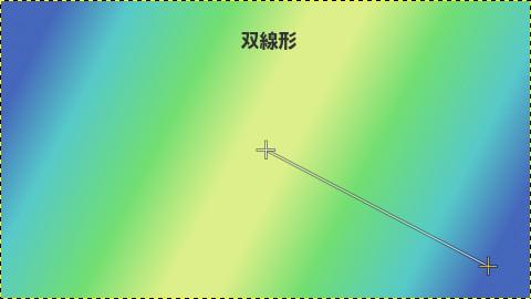 GIMPグラデーション:双線形