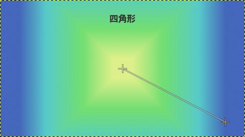 GIMPグラデーション:四角形