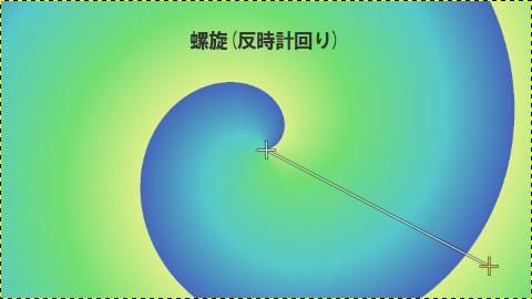 GIMPグラデーション:螺旋(反時計回り)