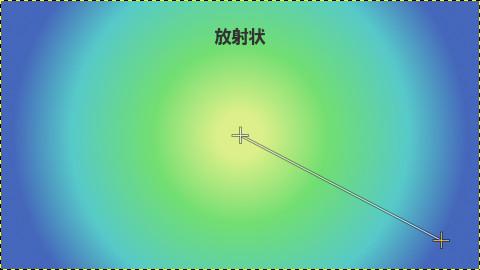 GIMPグラデーション:放射状