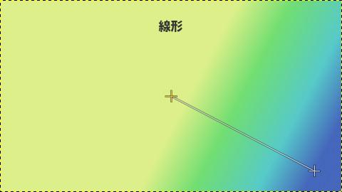 GIMPグラデーション:線形