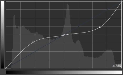 トーンカーブグラフの見方