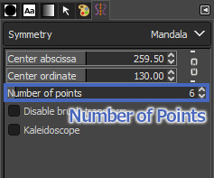 Numer of Points の値を変更する