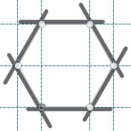 ガイドを利用して正多角形のパスを作る