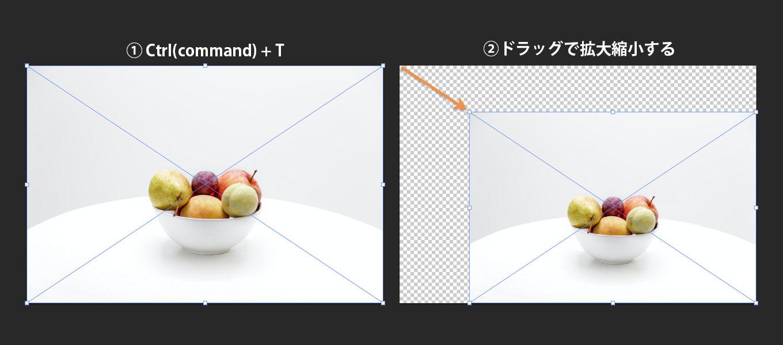 Photoshop:レイヤーを拡大縮小する